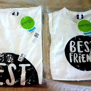 Baby Ball T-shirts Mom Toddler Matching Tops
